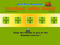 Fractions with Trains Screenshot