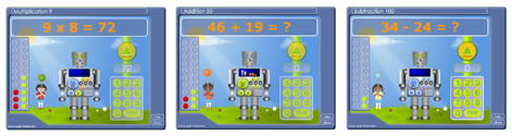 Math Games Screens